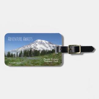 Adventure Awaits (Mt Rainier) Luggage Tag