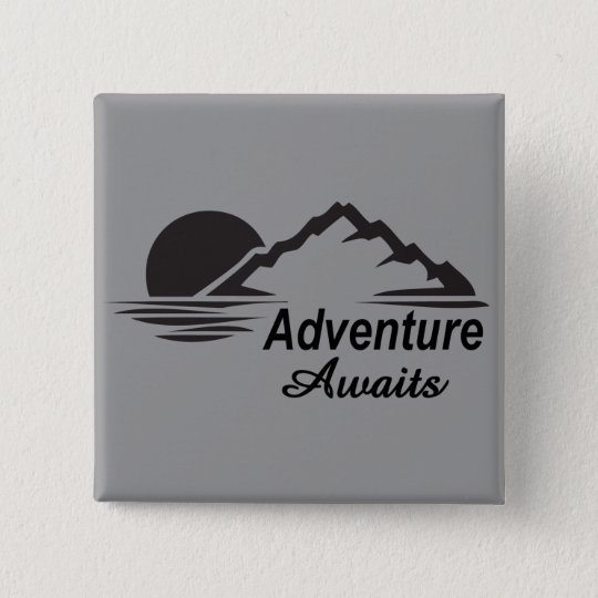 Adventure Awaits Nature Great Outdoors 15 Cm Square Badge