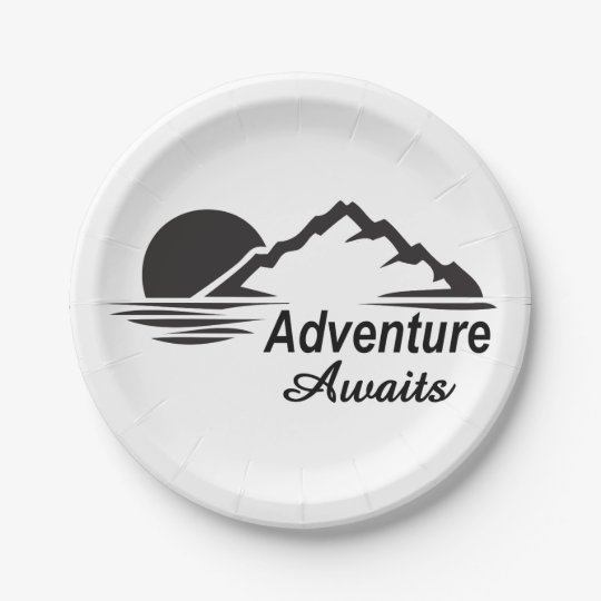 Adventure Awaits Nature Great Outdoors 7 Inch Paper Plate