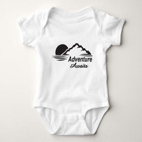 Adventure Awaits Nature Great Outdoors Baby Bodysuit