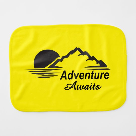 Adventure Awaits Nature Great Outdoors Baby Burp Cloths