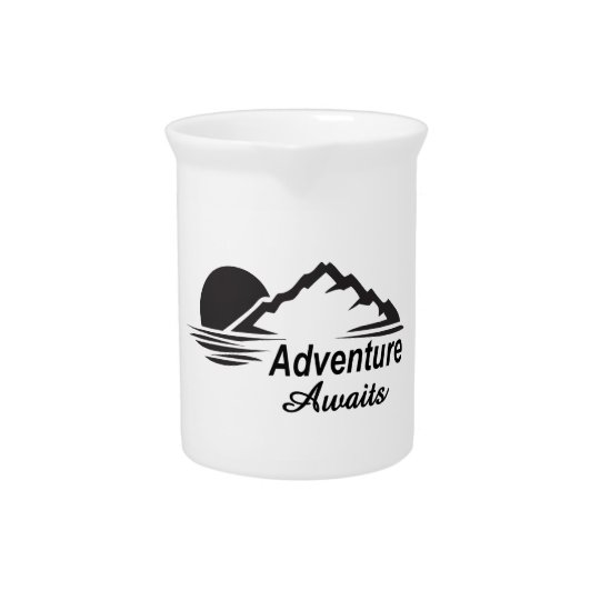 Adventure Awaits Nature Great Outdoors Beverage Pitchers