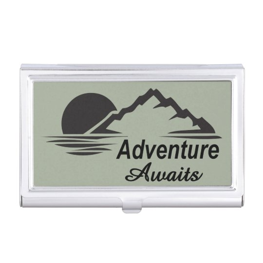 Adventure Awaits Nature Great Outdoors Business Card Case