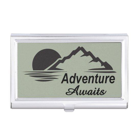Adventure Awaits Nature Great Outdoors Business Card Holder