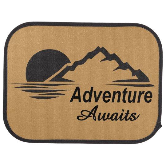Adventure Awaits Nature Great Outdoors Car Mat