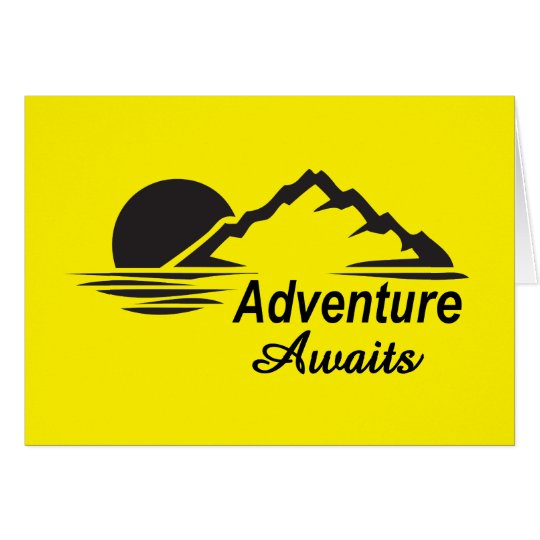 Adventure Awaits Nature Great Outdoors Card
