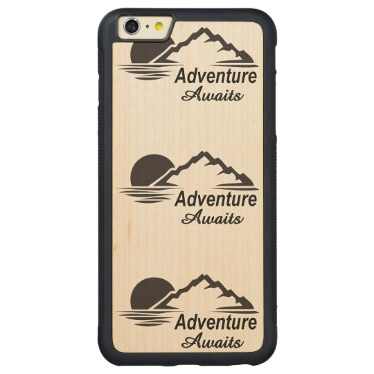Adventure Awaits Nature Great Outdoors Carved Maple iPhone 6 Plus Bumper Case