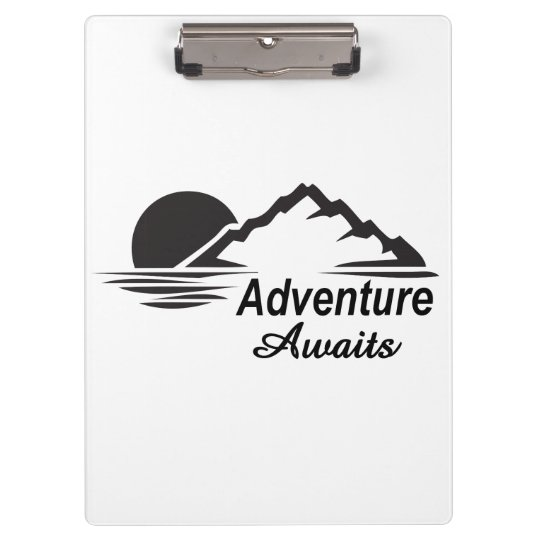 Adventure Awaits Nature Great Outdoors Clipboards