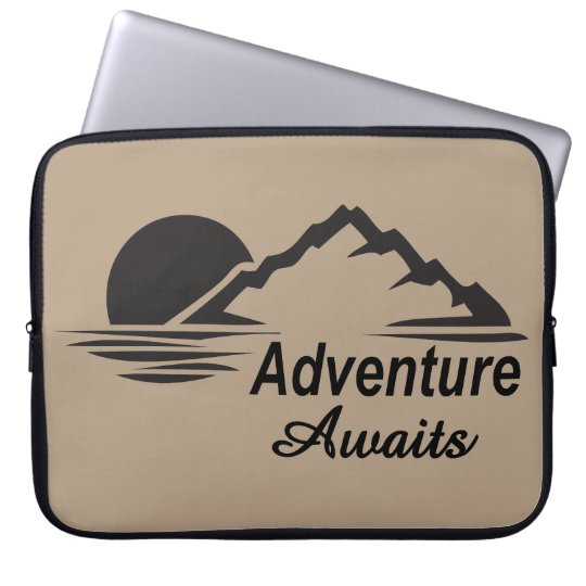 Adventure Awaits Nature Great Outdoors Computer Sleeves