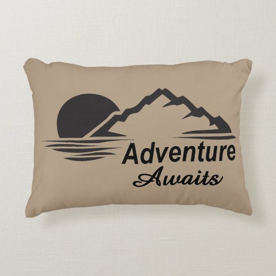 Adventure Awaits Nature Great Outdoors Decorative Cushion