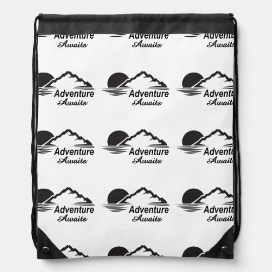 Adventure Awaits Nature Great Outdoors Drawstring Bag