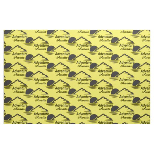 Adventure Awaits Nature Great Outdoors Fabric