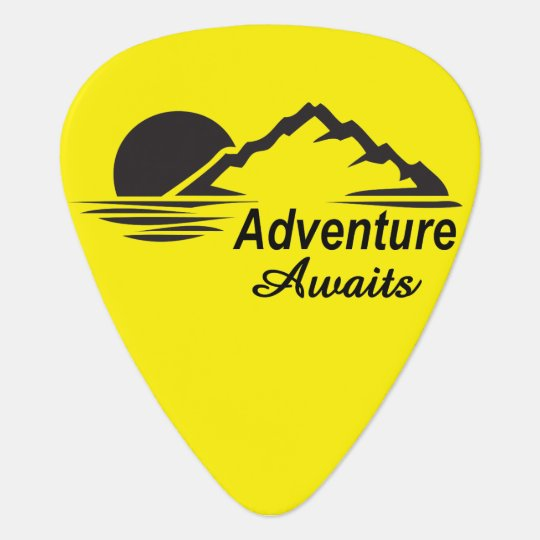 Adventure Awaits Nature Great Outdoors Guitar Pick