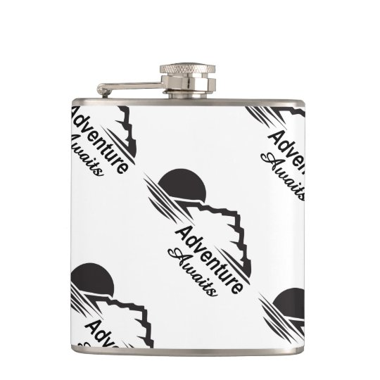 Adventure Awaits Nature Great Outdoors Hip Flask