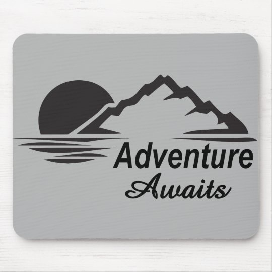Adventure Awaits Nature Great Outdoors Mouse Pad