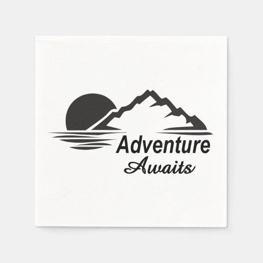 Adventure Awaits Nature Great Outdoors Paper Napkins