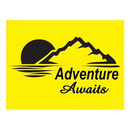 Adventure Awaits Nature Great Outdoors Postcard