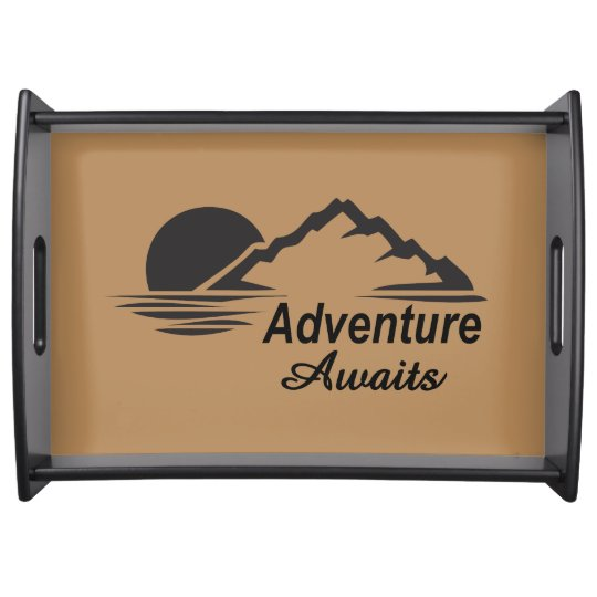 Adventure Awaits Nature Great Outdoors Serving Tray