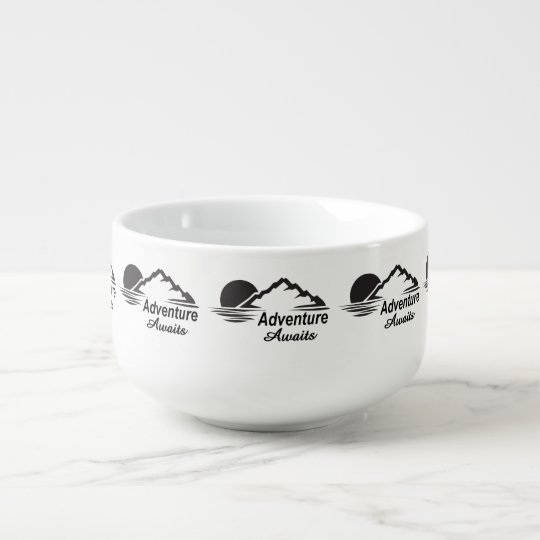 Adventure Awaits Nature Great Outdoors Soup Bowl With Handle