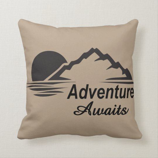 Adventure Awaits Nature Great Outdoors Throw Pillow