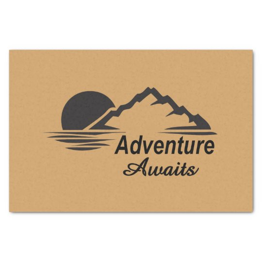 Adventure Awaits Nature Great Outdoors Tissue Paper