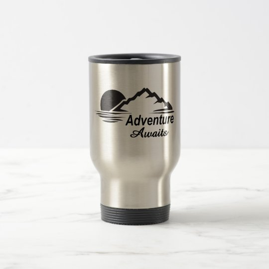 Adventure Awaits Nature Great Outdoors Travel Mug