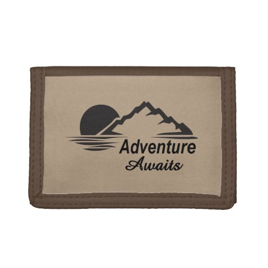 Adventure Awaits Nature Great Outdoors Trifold Wallet