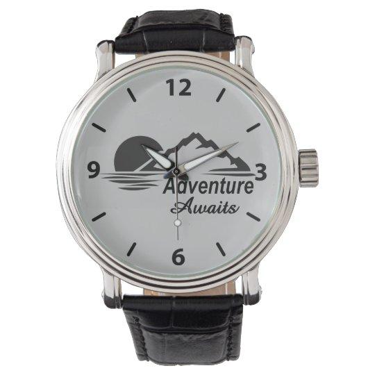 Adventure Awaits Nature Great Outdoors Wristwatch
