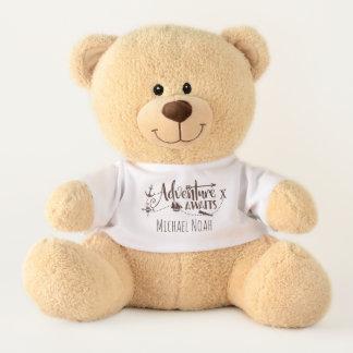 Adventure Awaits Nautical - Personalized MEDIUM Teddy Bear