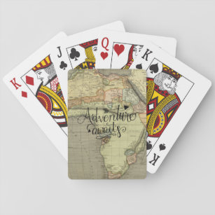 Adventure Awaits Old World Map Playing Cards