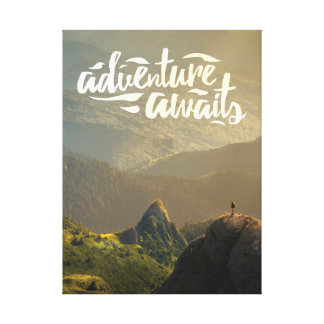 Adventure Awaits Poster Canvas Print