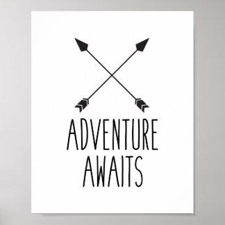 Adventure Awaits Poster Print