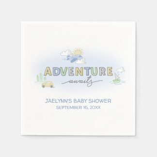 Adventure Awaits Travel - Personalized Disposable Napkin