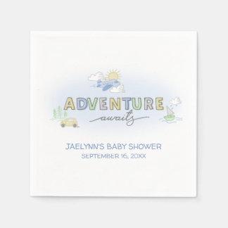 Adventure Awaits Travel - Personalized Disposable Serviettes