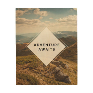"Adventure Awaits Wood Art, 8"" x 10"" Wood Print"
