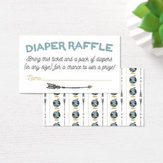 Adventure Baby Shower Diaper Raffle Card