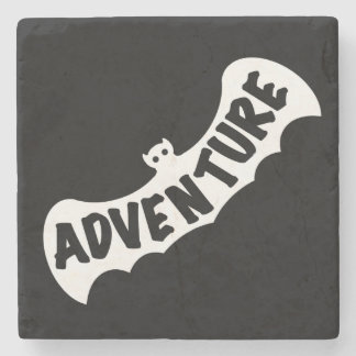 ADVENTURE BAT by Slipperywindow Stone Coaster