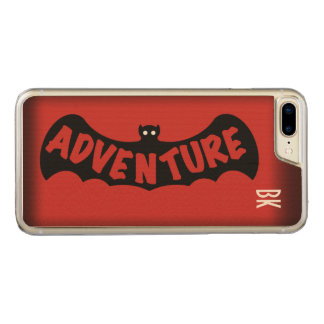 ADVENTURE BAT EMBLEM RED by Slipperywindow Carved iPhone 8 Plus/7 Plus Case