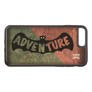 ADVENTURE BAT GREEN and RED by Slipperywindow Carved iPhone 8 Plus/7 Plus Case