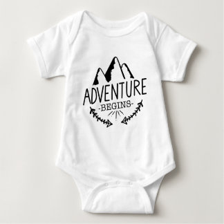 Adventure Begins Baby Bodysuit