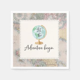 Adventure Begins Baby Shower Party Napkin Paper Napkin