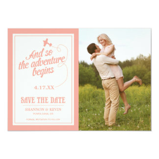 Adventure Begins | Destination - Save the Date Card