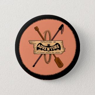 ADVENTURE CHALLENGE EMBELM by Slipperywindow 6 Cm Round Badge