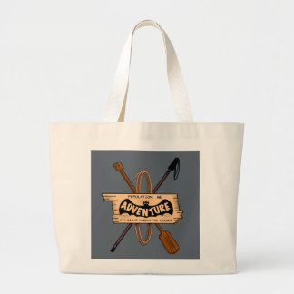 ADVENTURE CHALLENGE EMBELM by Slipperywindow Large Tote Bag