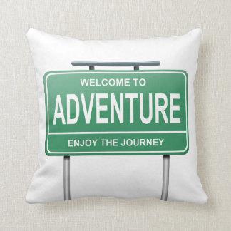Adventure concept. cushion