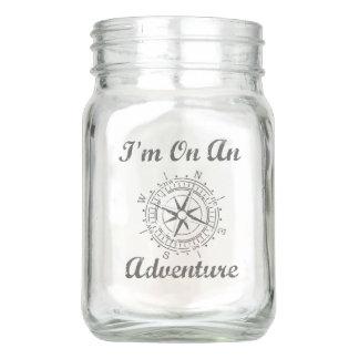 Adventure Glass Mason Jar