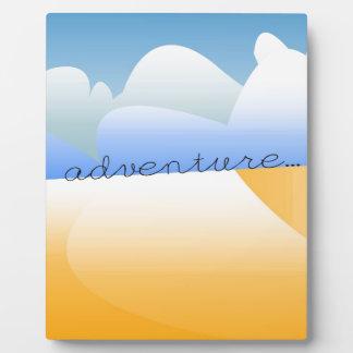adventure in desert plaque