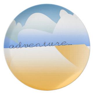 adventure in desert plate