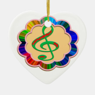 Adventure in heart style, engrave here your love, ceramic ornament