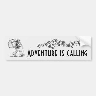 Adventure is Calling - Backpacking Bumper Sticker